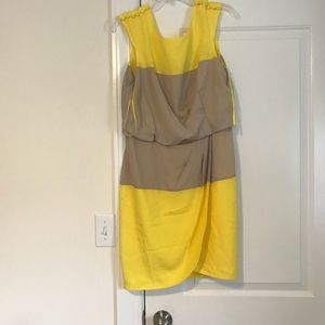 Jessica Simpson Yellow and tan day dress